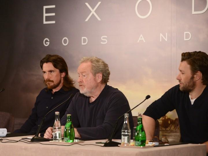 La Conférence de Presse d'Exodus: Gods and Kings